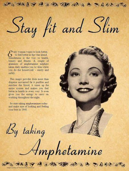 Amphetamine Vintage Ads Health