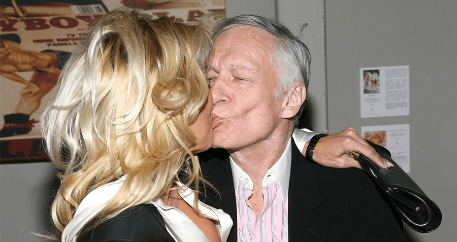 Hugh Hefner And A Blonde