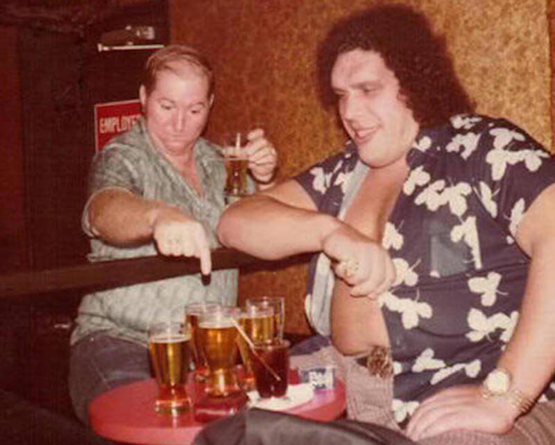 Andre The Giant Drinking Beer