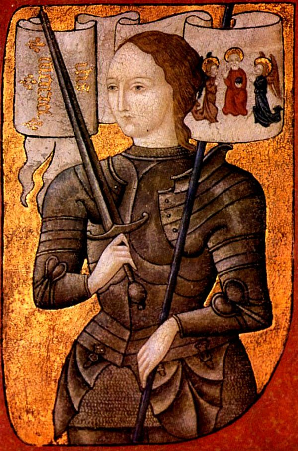 Joan of arc in armor