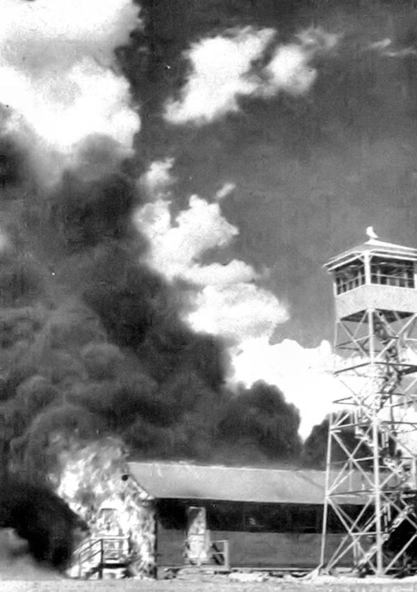 Bat Bomb explosion at army base