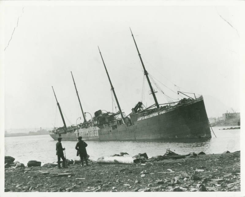 Beached Steamship