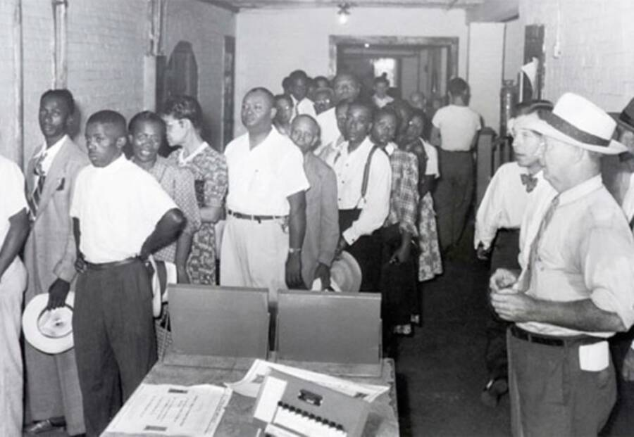 Black People Lined Up For Voting