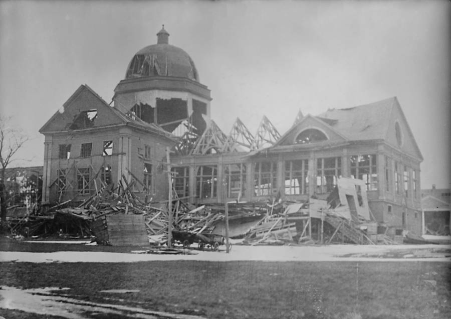 Building Destroyed In Explosion