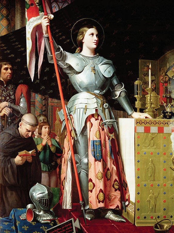 Joan of arc at Charles Coronation