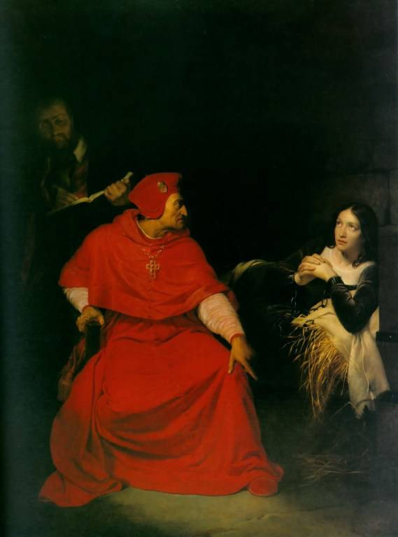Joan of arc during a clergy Interrogation