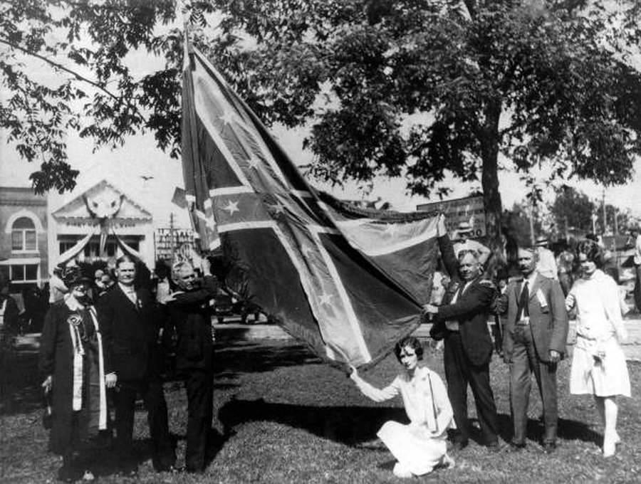 Confederate Flag Posing