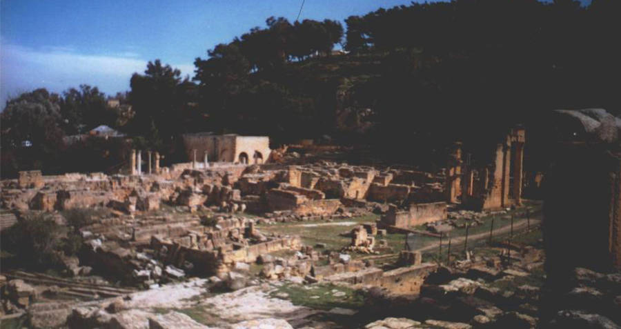 Ruins of city of Cyrene