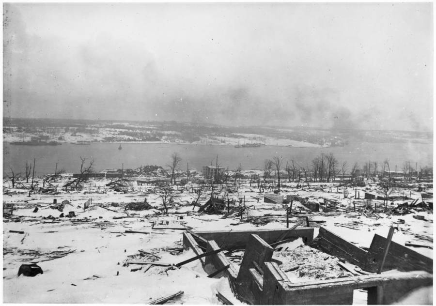 Damage From The Halifax Explosion
