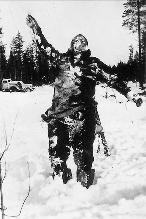 Dead Russian soldier in Winter War