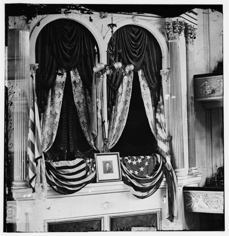 Ford Theater box where lincoln was shot
