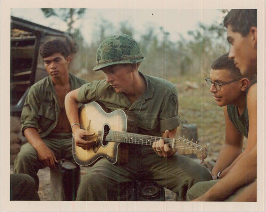 Gathering Around A Guitar