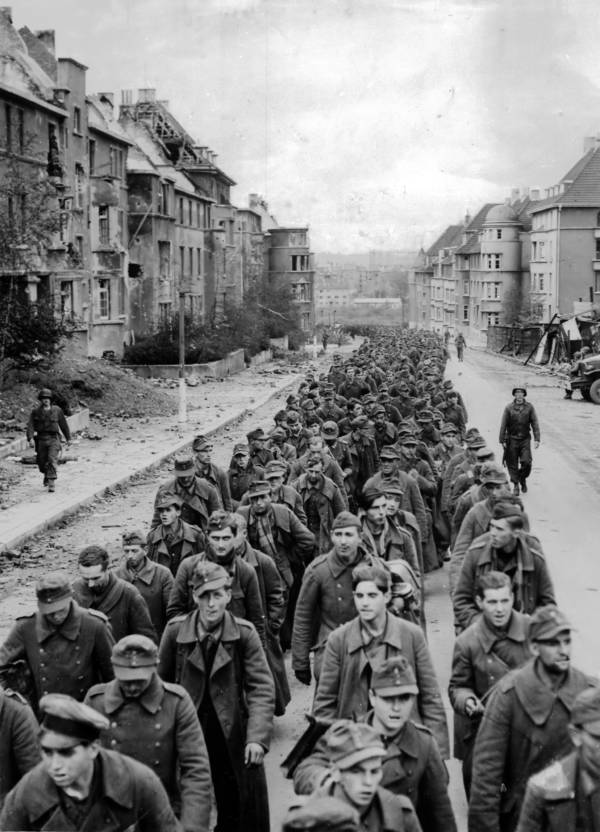 German POWs Marching