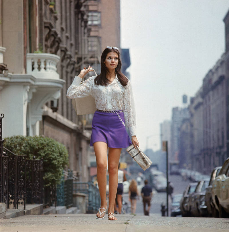 Girl Walking Down Street