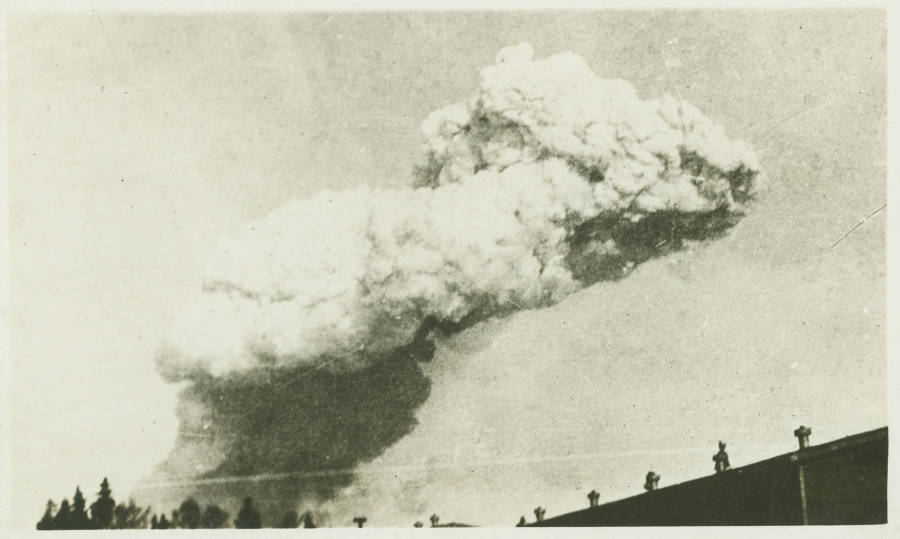 Smoke Cloud Above The Halifax Explosion