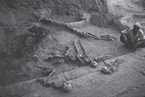 Skeletons at Teppe Hasanlu