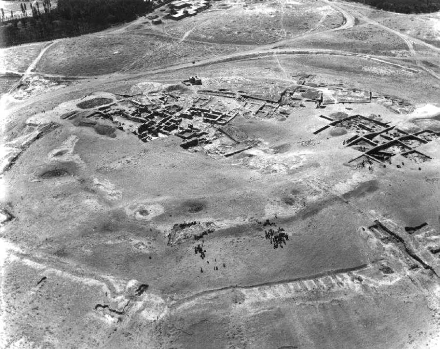Aerial view of Teppe Hasanlu