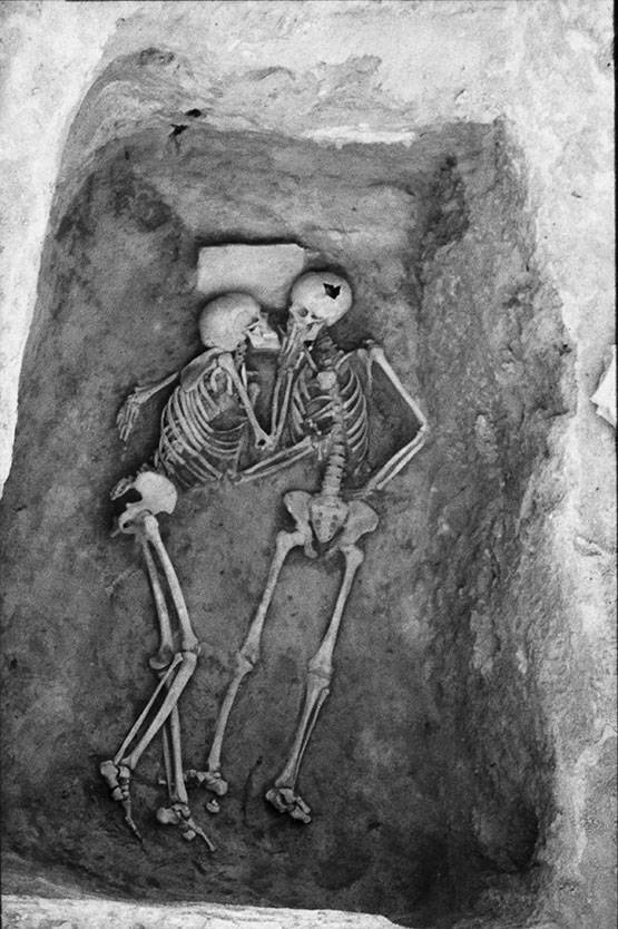 Kissing skeletons known as Hasanlu Lovers