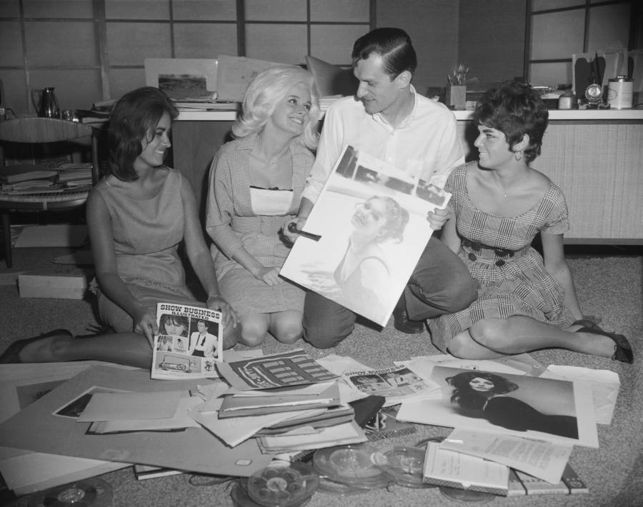 Hefner With A Magazine