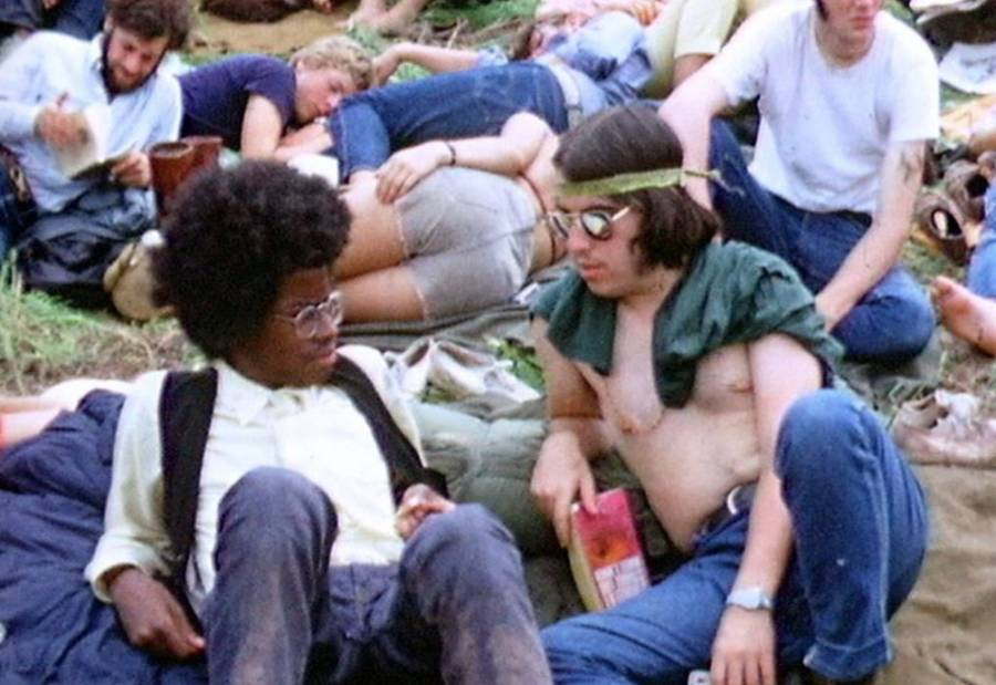 Hippies At Woodstock