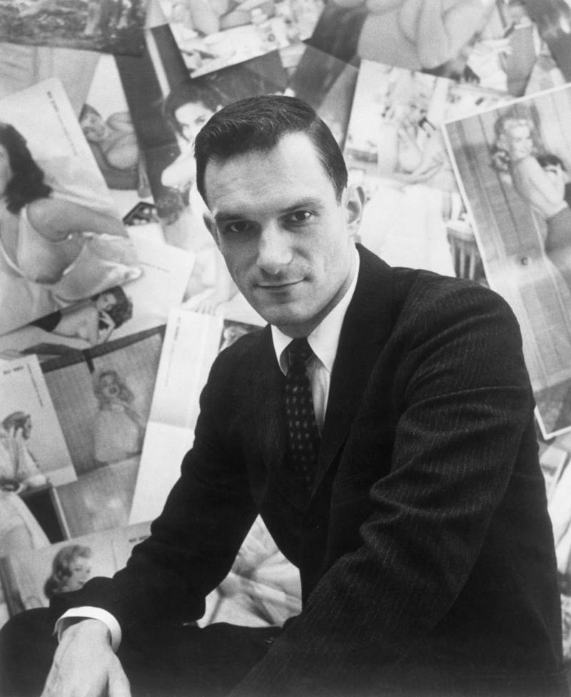 Young Hugh Hefner In A Suit