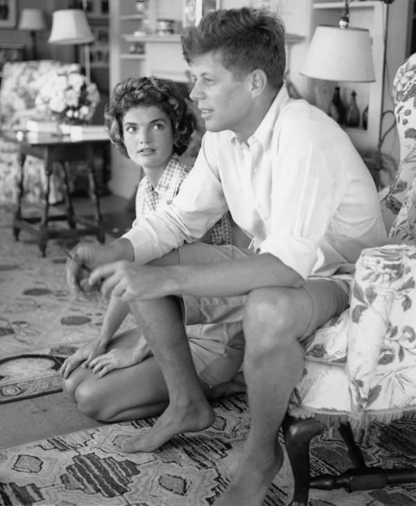 John Kennedy Jackie On Floor
