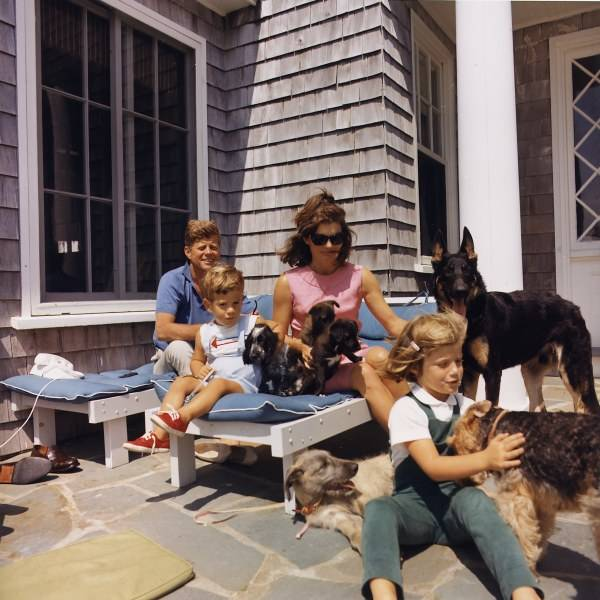 Kennedy Family With Dogs