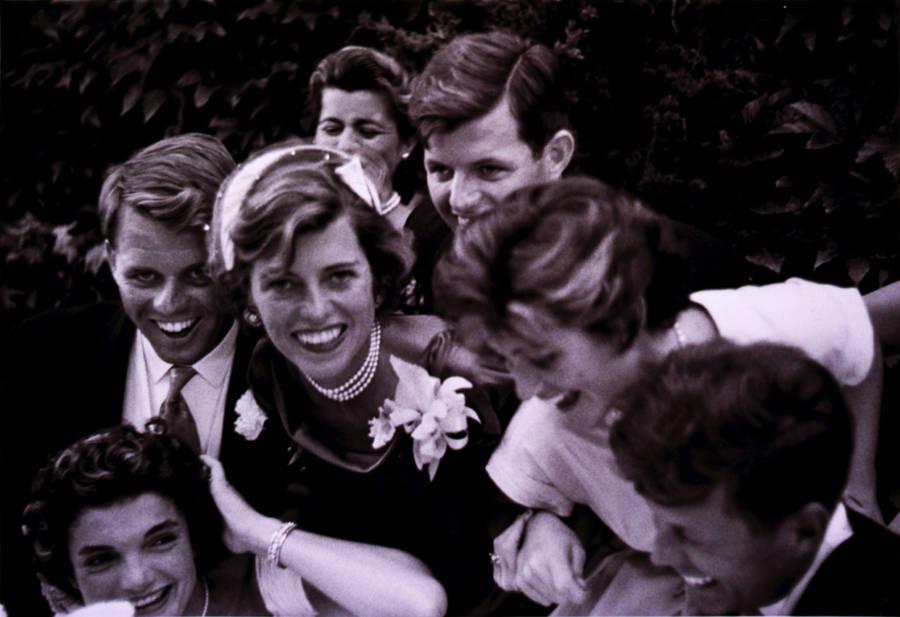 Kennedy Wedding Crowd