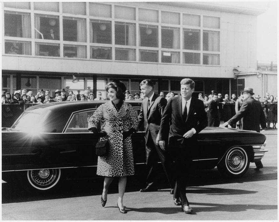 Kennedys Exiting Car
