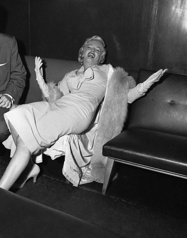Laughing Marilyn Monroe