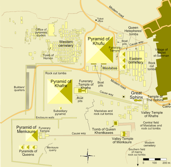 Map Of Giza Pyramid Complex