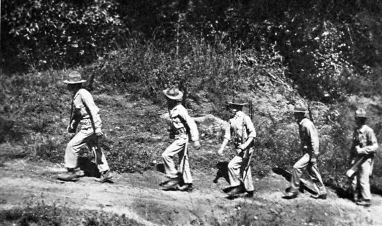 American marines patrol Haiti
