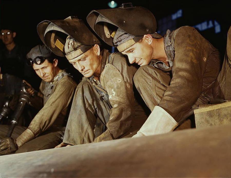 Men Welding Home Front