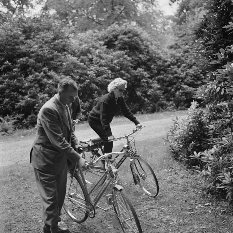 Monroe On A Bike