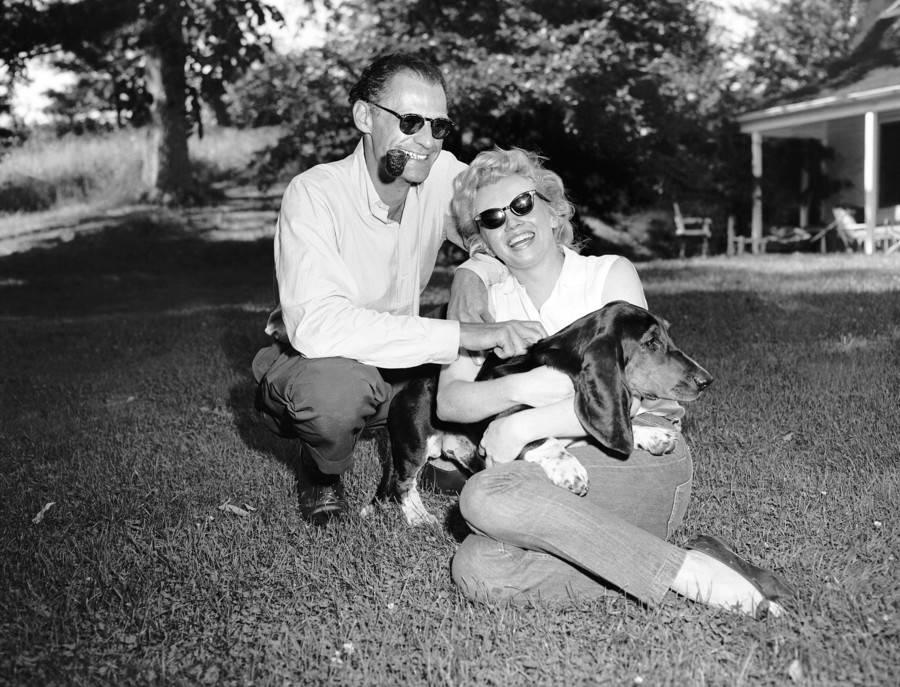 Monroe With Husband And Dog