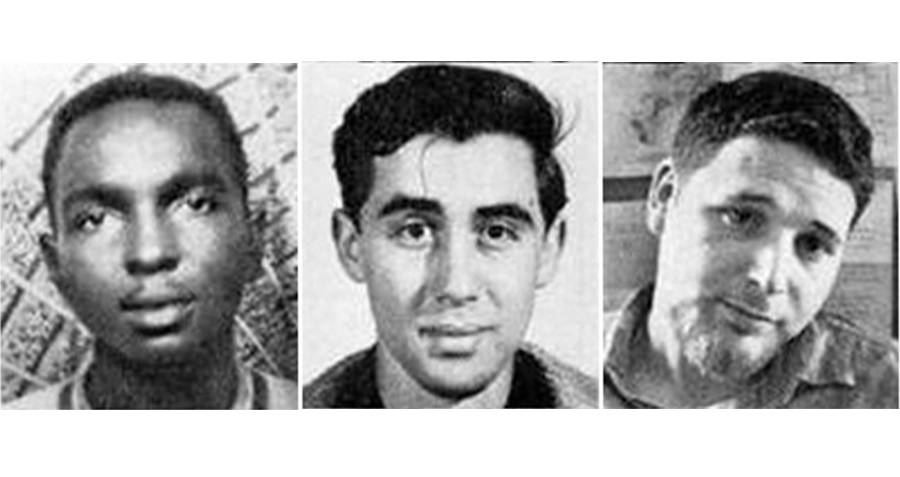 James Chaney, Andrew Goodman and Michael Schwerner.