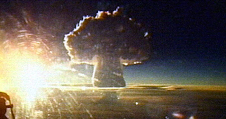 Mushroom Cloud from Tsar Bomba