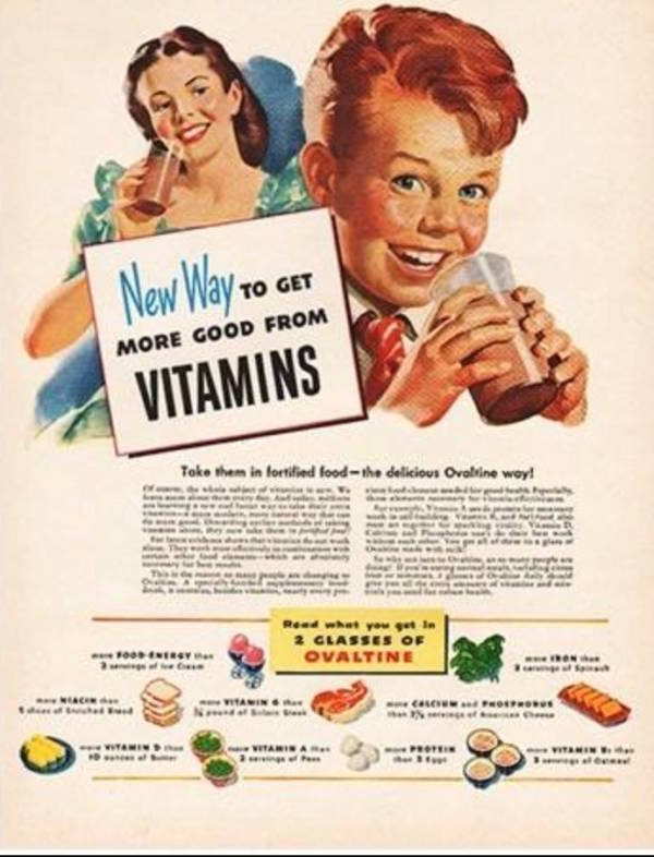 Ovaltine Health Ad Chocolate