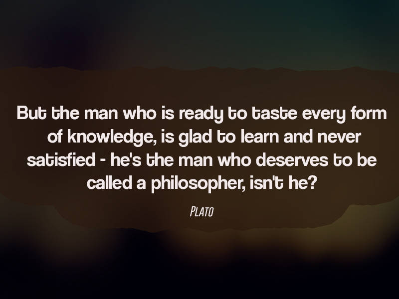 Plato Thought Provoking Question