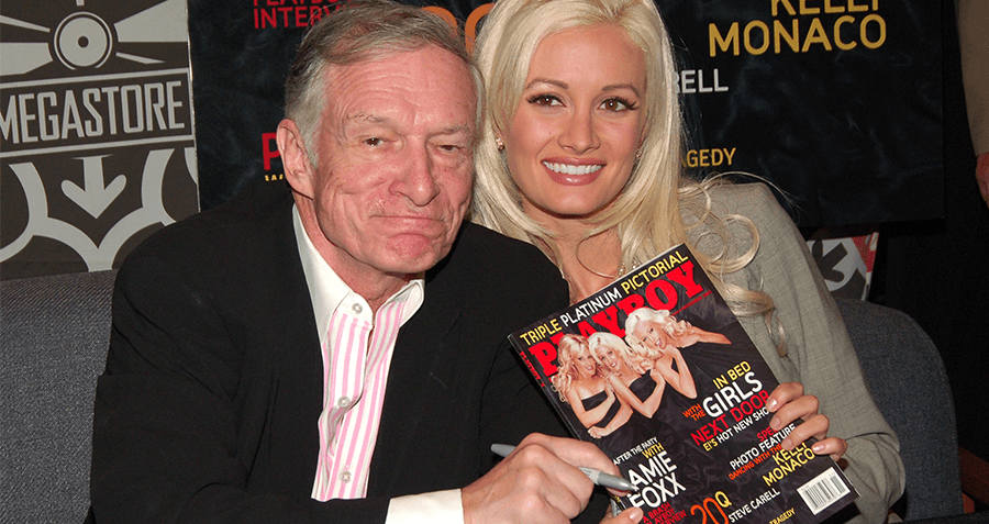Hefner With A Playboy Mag