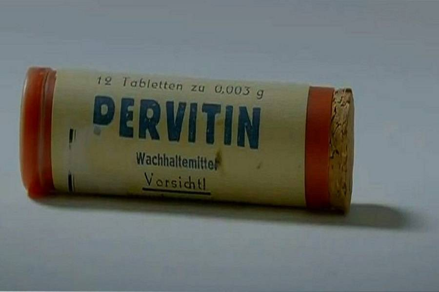Pervitin Container
