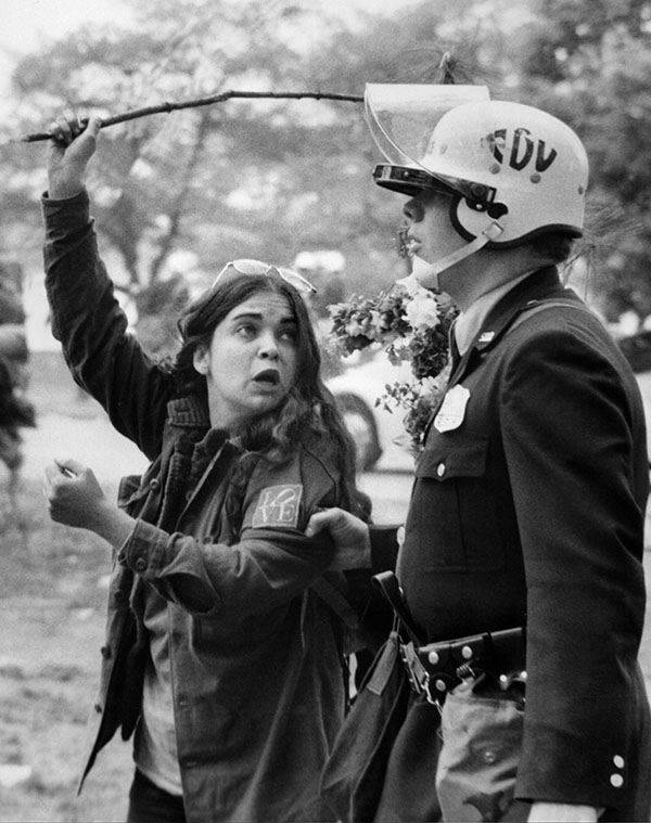 Protest Woman Arrested