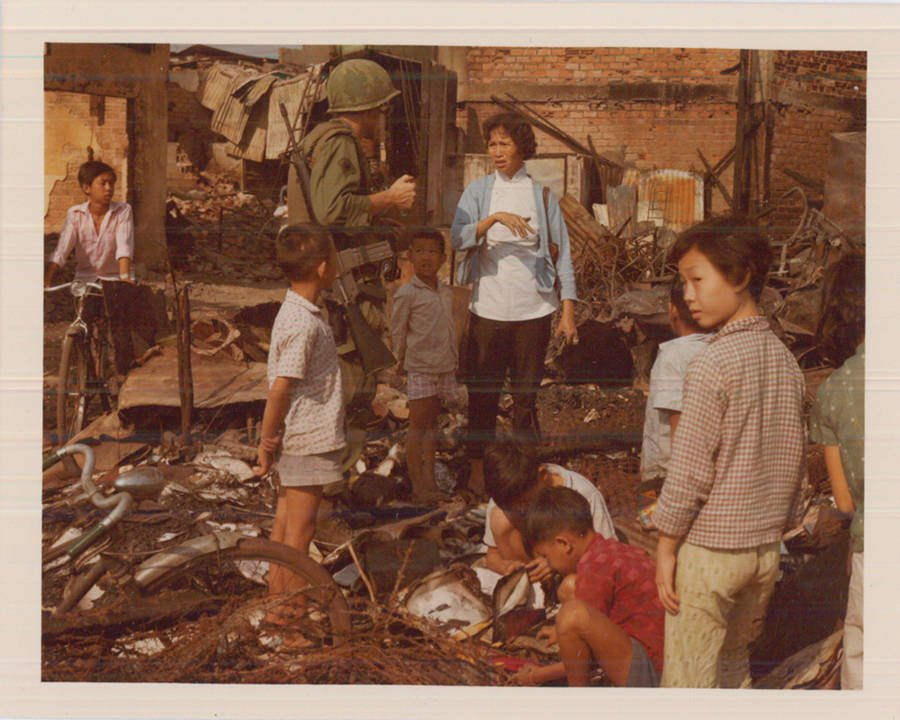 Questioning Civilians In Wreckage