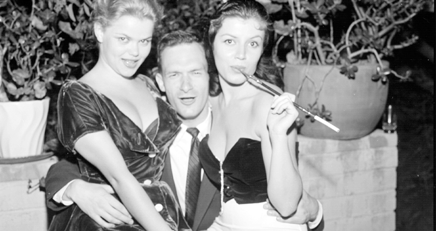 Hefner With Two Women