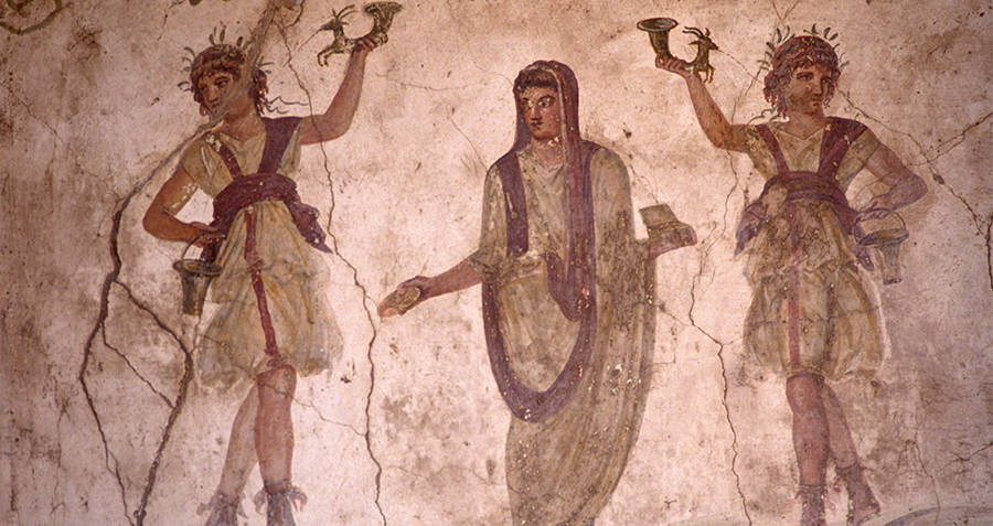 Roman painting depicting fertility gods