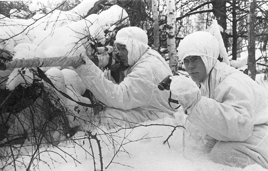 Russian Snipers In The Snow