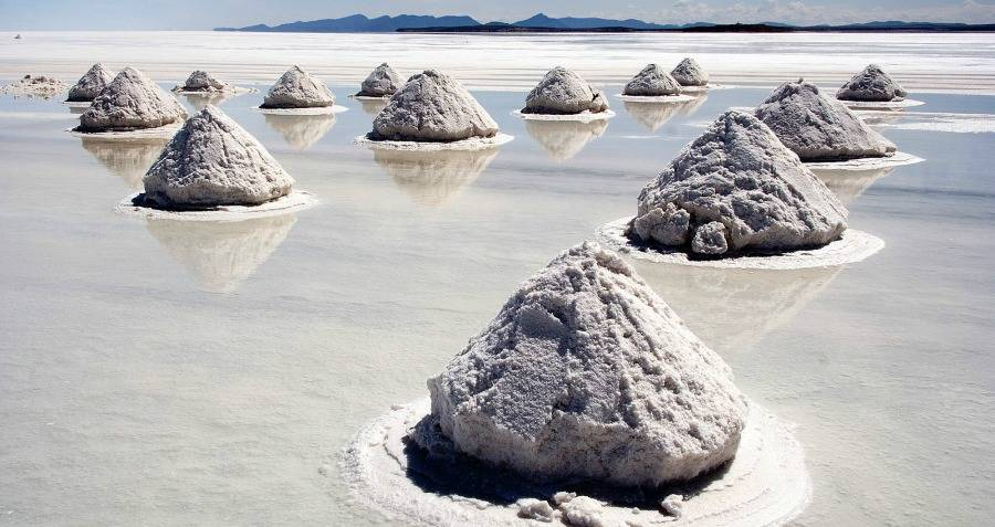 Salt Mounds Bolivia