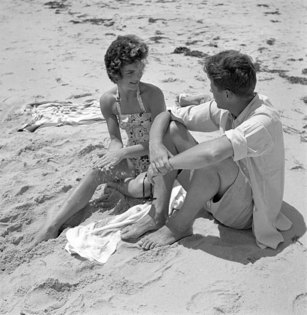 Senator Kennedy Beach Courting