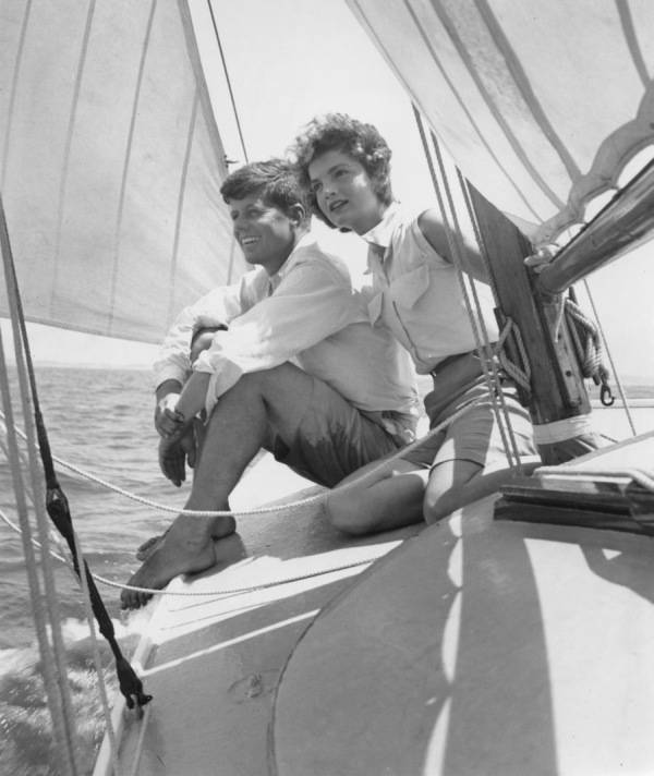 Senator Kennedy On Boat
