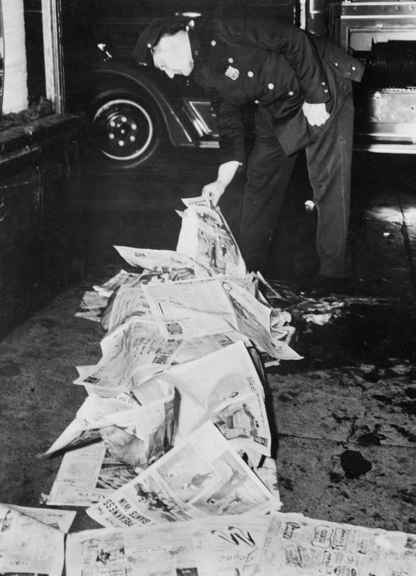 Shroud Of Newspapers